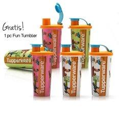 Tupperware Fun Tumbler (5Pcs) Free 1Pcs - Warna Sesuai Stock - Multi Colour