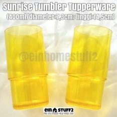 Tupperware Gelas Kristal Sunrise Tumbler Kuning
