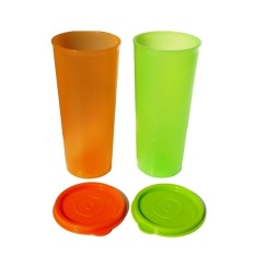 Tupperware Giant Tumbler 2Pcs Hijau Orange Tupperware Diskon