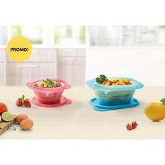 Tupperware Go Flex Set (Pink + Blue) Kotak Makan Lipat