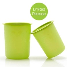 Tupperware Green Canister 2 pcs/set - Toples