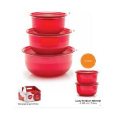 Tupperware Lucky Red Bowl - 5pcs/set
