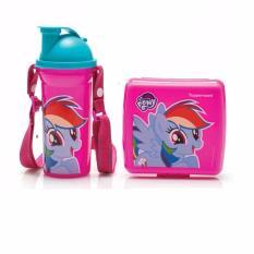 Tupperware Lunch Set/Tempat makan siang anak 1 set (Tempat makan + Tumbler) - Little Pony