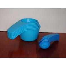 Tupperware Measuring Cup & Sendok Set Desain Terbaru Biru-Intl