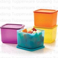 Tupperware Medium Summer Fresh - 4 Pc - Warna Warni