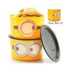 Review Tupperware Minion Google Canister 2Pcs Terbaru