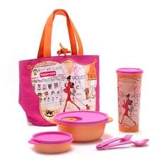 Tupperware Miss Bell Lunch Set With Tas