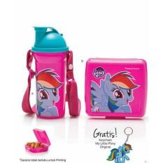 Tupperware My Little Pony Lunch Set 2 pcs/set free Keychain