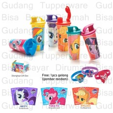 Harga Tupperware My Little Pony Tumbler 6Pcs Terbaru