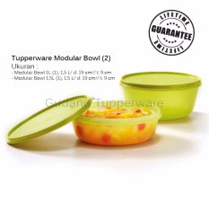 Harga Tupperware New Modular Bowl Green 2Pcs Tupperware Asli