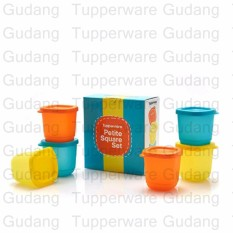 Petite Square Set 6pcs - Wadah Warna Warni
