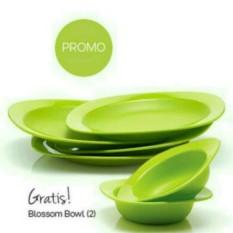 Tupperware Plate Blossom 4 pcs + free bowl 2 pcs