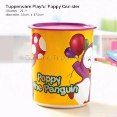 Harga Tupperware Playful Poppy Canister New Merk Tupperware