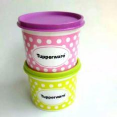 Tupperware Polkadot Canister 2Pcs Murah