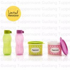 Tupperware Polkadot Set 2Toples + 2 Botol