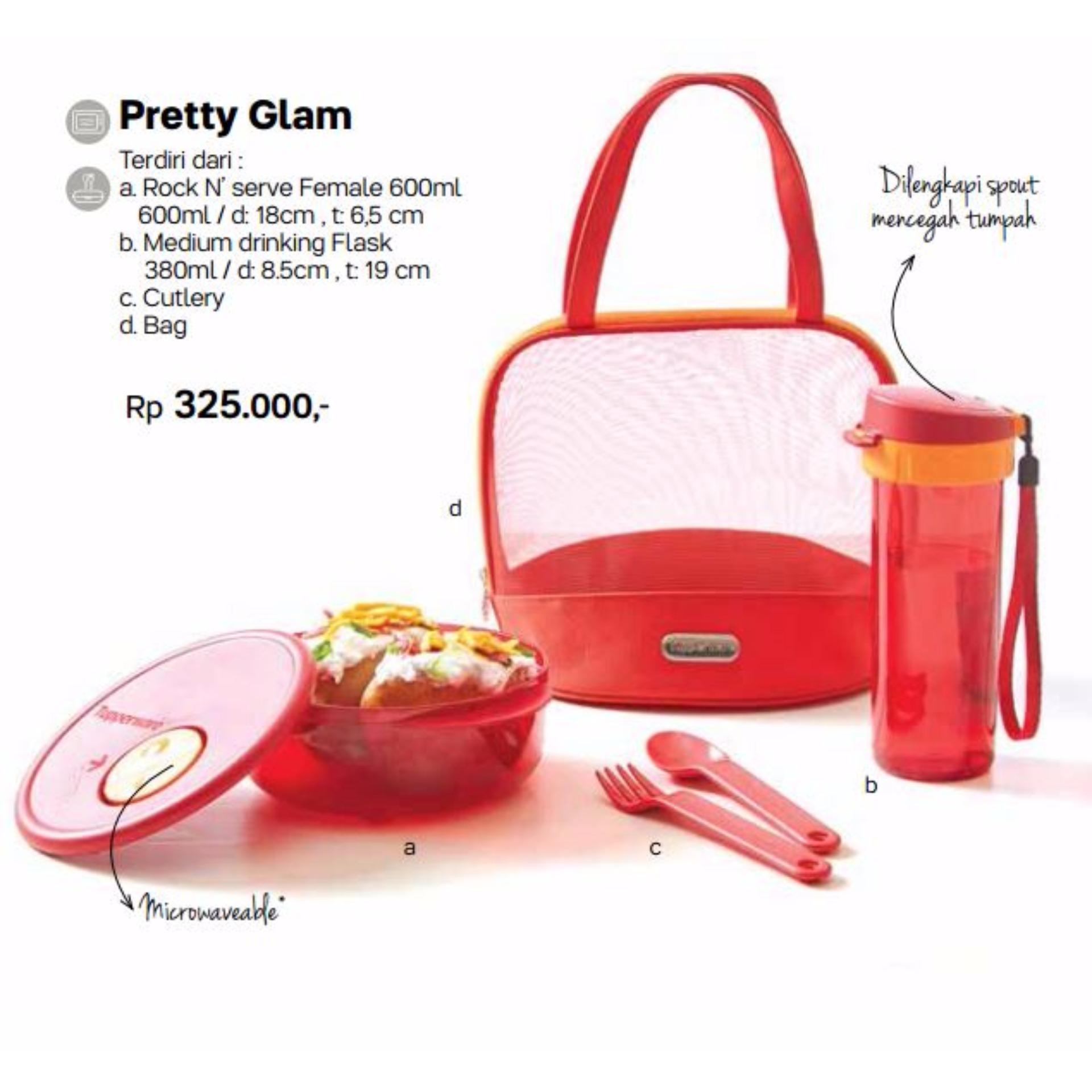 Tupperware Sweet Blossom Hijau Daftar Harga Terbaru Indonesia Set Pretty Glam Lunch Box
