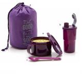 Jual Tupperware Purple Blush Tempat Makan Dan Minum Set Branded Murah