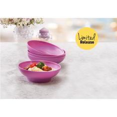 Tupperware purple daisy bowl (4)