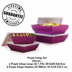Harga Tupperware Purple Ichigo Set 4Pcs Yang Murah