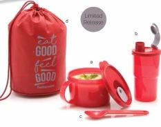 Jual Tupperware Red Blush Lunch Box Set Merah Online Jawa Barat