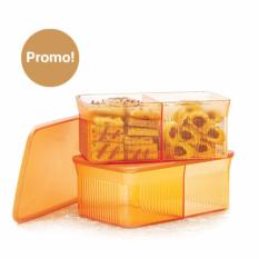 Harga Tupperware Snack It 2Pcs Gold Edition Yang Murah