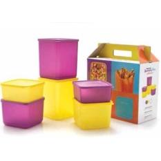 Spesifikasi Tupperware Summer Fun Ungu Kuning 6Pcs Set Yang Bagus Dan Murah