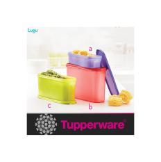 tupperware super oval toples makanan serbaguna bentuk unik 1 set