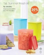 Tupperware Tall Summer Fresh Large Wadah Besar