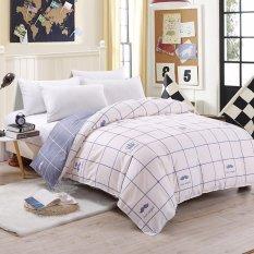 Spesifikasi Pola Dua Tone Sanding Cotton Duvet Quilt Cover Full Queen King Size Intl Yang Bagus Dan Murah