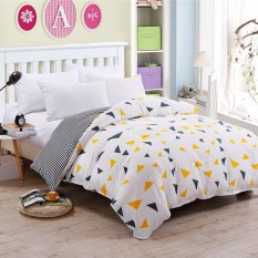 Harga Pola Dua Tone Sanding Cotton Duvet Quilt Cover Full Queen King Size Intl Satu Set