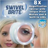Jual U228 Perjalanan Cermin Rias Lampu Led Putar Brite Kosmetik 8 X Lup Internasional Oem Asli