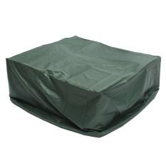 UK 135x135x75 Cm UV Hujan Pelindung Rotan Furniture Cover For Wicker Rotan Garden Hijau Persegi Intl
