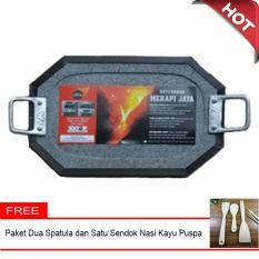 Diskon Ukuran 20 X 30 Cm Panggangan Batu Bakar Lava Merapi Bebas Asap Segi 8 Bonus Spatula Di Yogyakarta