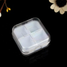 Ulamore Square Portable Kit Mini Kit Portable Kecil Kit Cute Empat Grid Sub Box Pill Box