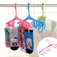 Ultimate Hanger Gantungan Jemuran Kaos Kaki 8 Jepit/Sock Hanger 8in1 Multifungsi HM-01 - Pink