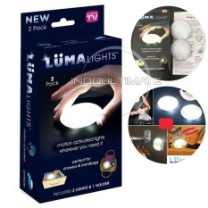 Ultimate Lampu Led Mini Portable Luma Lights 2Pc Lampu Genggam Lampu Tidur Tempel Lampu Hias Tas Dan Laci Multifungsi Serbaguna Hl Pl 01 Murah