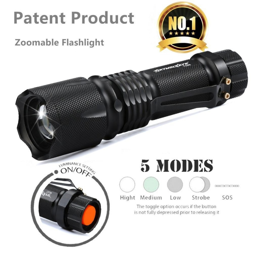 Diskon Ultra Bright 5 Mode Xml T6 5000Lm Zoomable Led Senter Torch Lampu Intl Oem