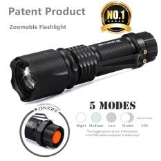 Harga Ultra Bright 5 Mode Xml T6 5000Lm Zoomable Led Senter Torch Lampu Intl Yang Bagus