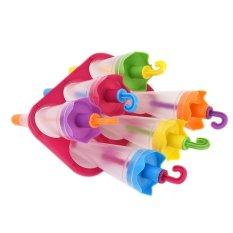 Bentuk Payung Membuat Jus Beku Es Krim Lolly Yogurt Popsicle Maker Cetakan-Intl