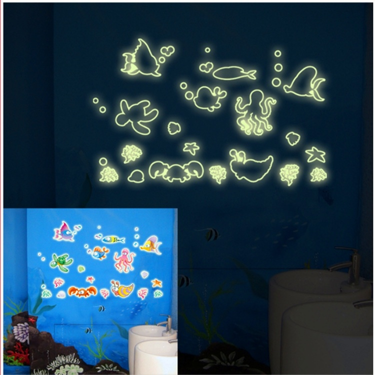 Undersea World Animal Removable Sticker Poster Vinyl Kamar Tidur Removable Dekorasi Rumah Hiasan Dinding Ruang Tamu Rumah Decal