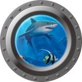 Toko Dunia Bawah Laut Hiu Ikan 3D Stiker Dinding Untuk Jendela Kamar Anak Kamar Mandi Stiker Wallpaper Poster Seni Dekorasi Rumah Murah Di Tiongkok