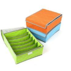 Kado Unik-- Underwear Storage Box Shoes BH Bra Baju Pakaian Celana velcro bamboo