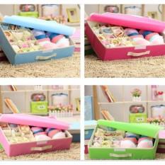 Underwear Storage Box Tempat Penyimpanan Pakaian Dalam 2 In 1 By Igrosir.