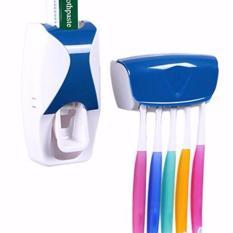 Spesifikasi Unik Dispenser Odol Automatic 2In1 Dengan Tempat Sikat Gigi Elegant Biru Beserta Harganya