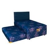 Toko Uniland Springbed 2 In 1 Paradise Hb Carvio Suede Size 90 X 200 Biru Fullset Khusus Jabodetabek Lengkap