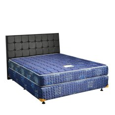 Uniland Springbed Standard Biru Divan Flamboyan HB Sydney Size 100 x 200 - Full Set - Khusus Jabodetabek