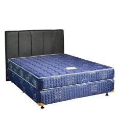 Uniland Springbed Standard Biru Divan Flamboyan HB Vadia Size 180 x 200 - Full Set - Khusus Jabodetabek