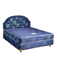Uniland Springbed Standard Biru HB Flamboyan Size 160 x 200 - Full Set - Khusus Jabodetabek