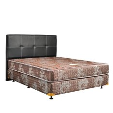 Uniland Springbed Standard Coklat Divan Flamboyan HB Elegance Size 160 x 200 - Full Set - Khusus Jabodetabek