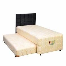 Uniland Standard 2 in 1 Springbed Cream Size 90 x 200 HB Sydney - Full Set - Khusus Jabodetabek